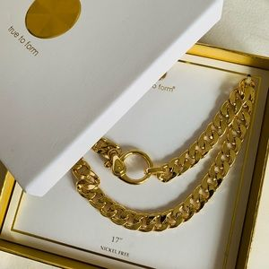True To Form Gold Plated Necklace
